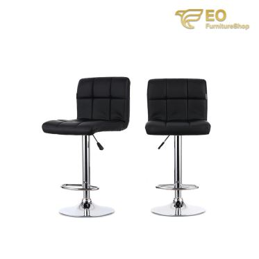 Adjustable Leather Bar Stool
