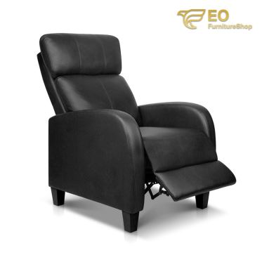 Leather Recliner Club Chair
