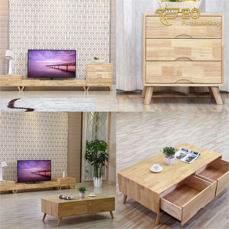 Wood TV Table