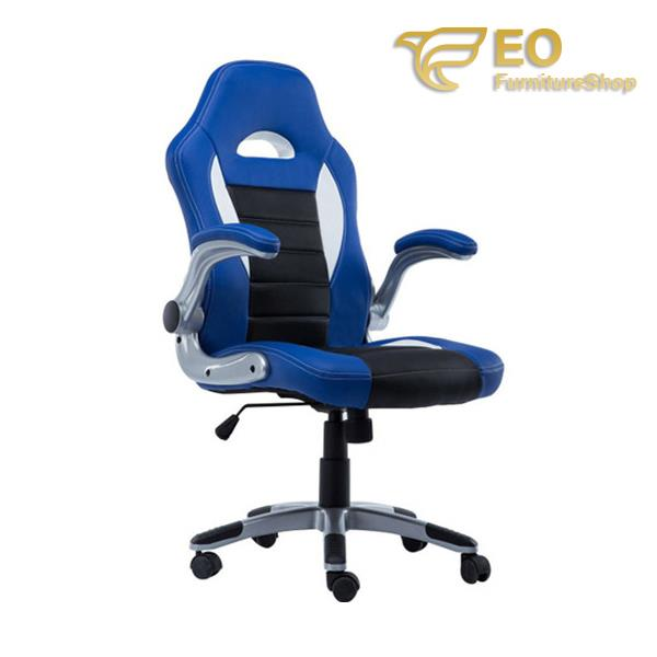 Blue Swivel Game Chair