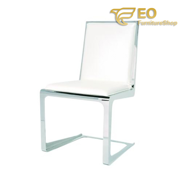 Matt White PU Dining Chair