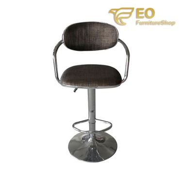 Armrest Rugged Fabric Bar Chair