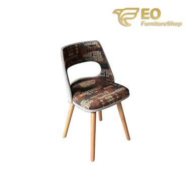 Fabric Wood Bar Chair