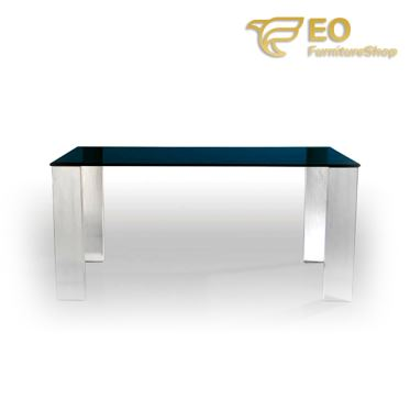 Gray Glass Dining Table