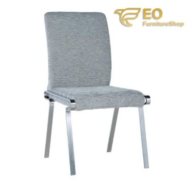 Modern Linen Covered Dining Chair