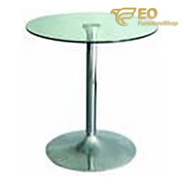 Tempered Glass Round Bar Table
