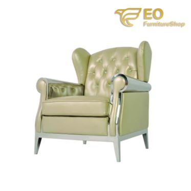 Upholstered Leather Lounge Chair