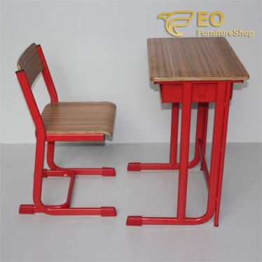 Wood Metal School Desk And Chair